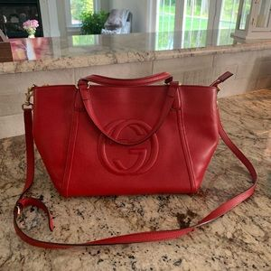 Gucci red satchel